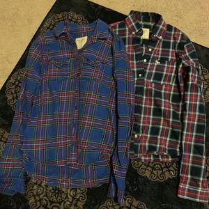 Abercrombie flannel bundle